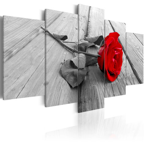Cuadro - Rosa en la madera - 100x50