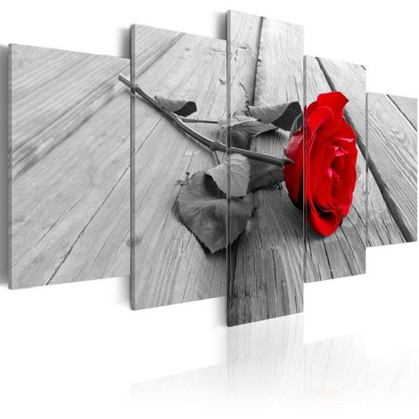 Cuadro Rosa en la madera cm 100x50 Artgeist A1-N3363