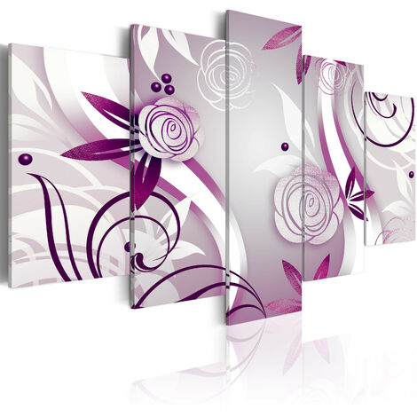 Cuadro - Rosas violetas - 100x50