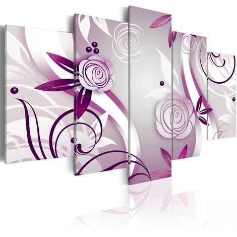Cuadro Rosas violetas cm 200x100 Artgeist A1-N2884-DKX