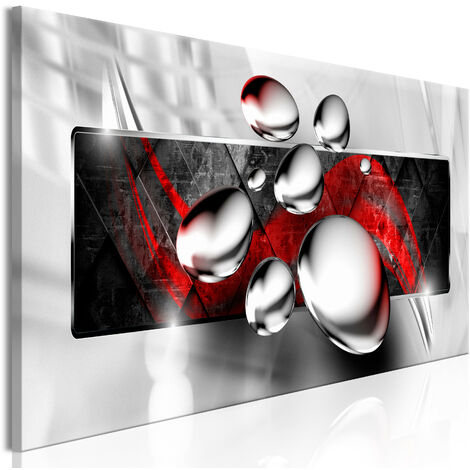 Cuadro - Shiny Stones (1 Part) Narrow Red - 120x40