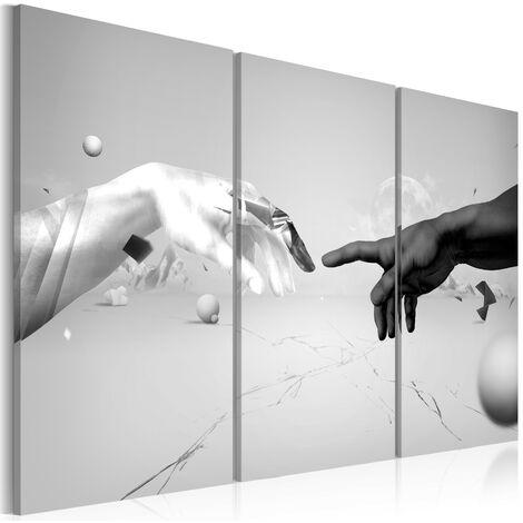 Cuadro - Tacto en negro y blanco - 60x40