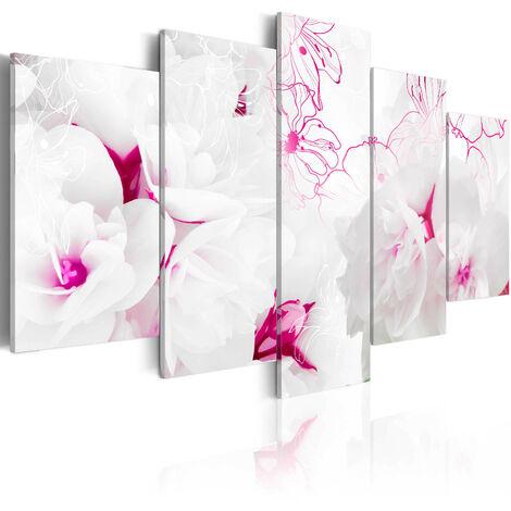 Cuadro - Telaraña rosada - 100x50