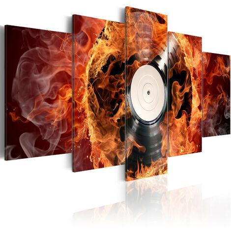 Cuadro - Un vinilo en llamas - 100x50
