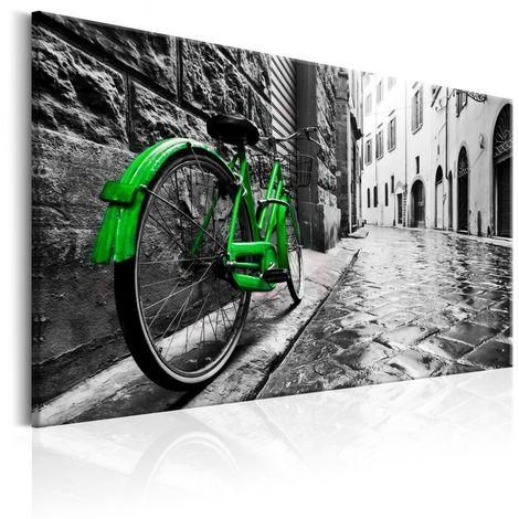 Cuadro Vintage Green Bike cm 90x60 Artgeist