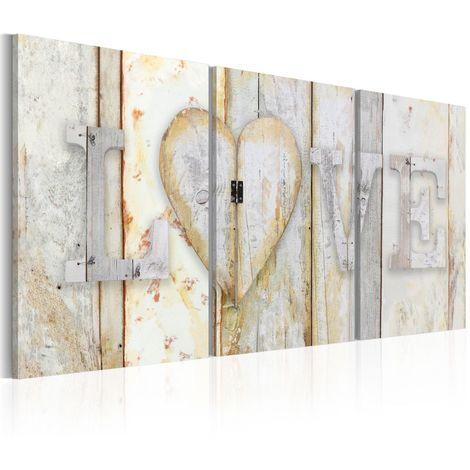 Cuadro Vintage Love cm 120x60 Artgeist