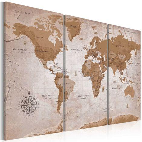 Cuadro Vintage Map Oriental Travels cm 90x60 Artgeist