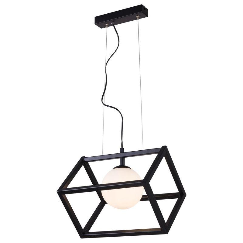 Homemania - Cube 1 Haengelampe - Kubus - Kronleuchter - Deckenleuchte - Schwarz aus Metall, 33 x 28 x 90 cm, 1 x E14, 40W