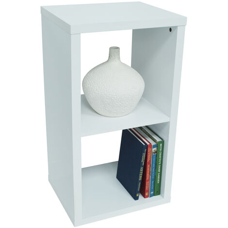 CUBE - 2 Cubby Square Display Shelves / Vinyl LP Record Storage - White