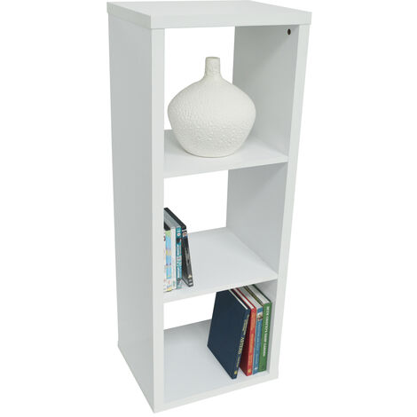 CUBE - 3 Cubby Square Display Shelves / Vinyl LP Record Storage - White