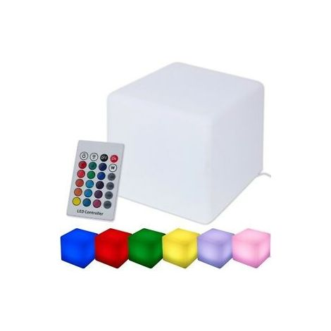 Cube 30x30cm Solaire, multicolore L.30xl.30cm