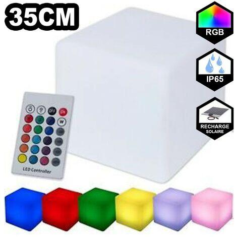 Cube 35x35cm Solaire, multicolore