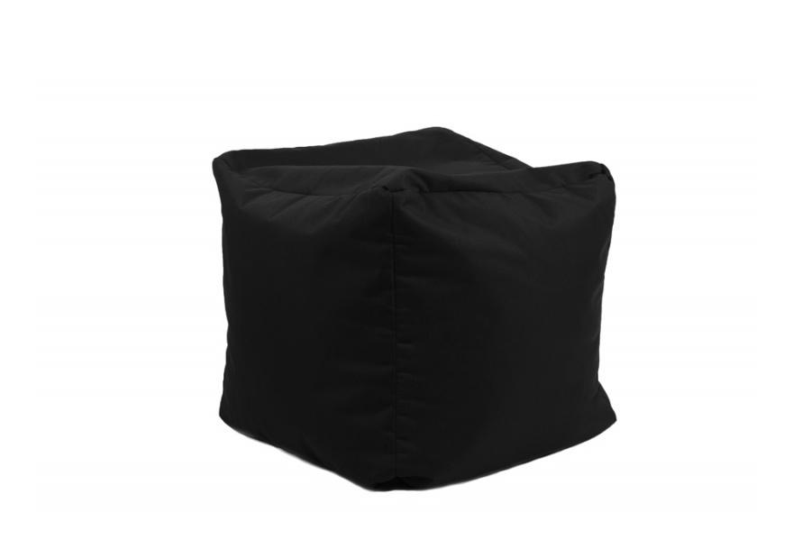 Pouf Cube repose-pieds Noir - Jumbo Bag