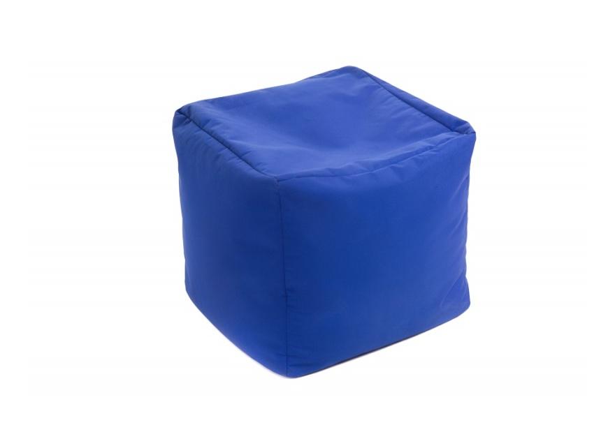 Pouf Cube repose-pieds Bleu - Jumbo Bag