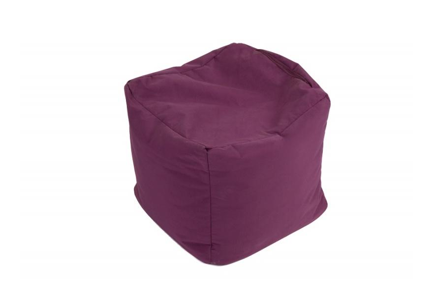 Pouf Cube repose-pieds Aubergine - Jumbo Bag