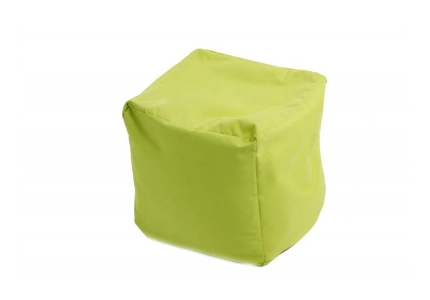 Pouf Cube repose-pieds Vert anis - Jumbo Bag