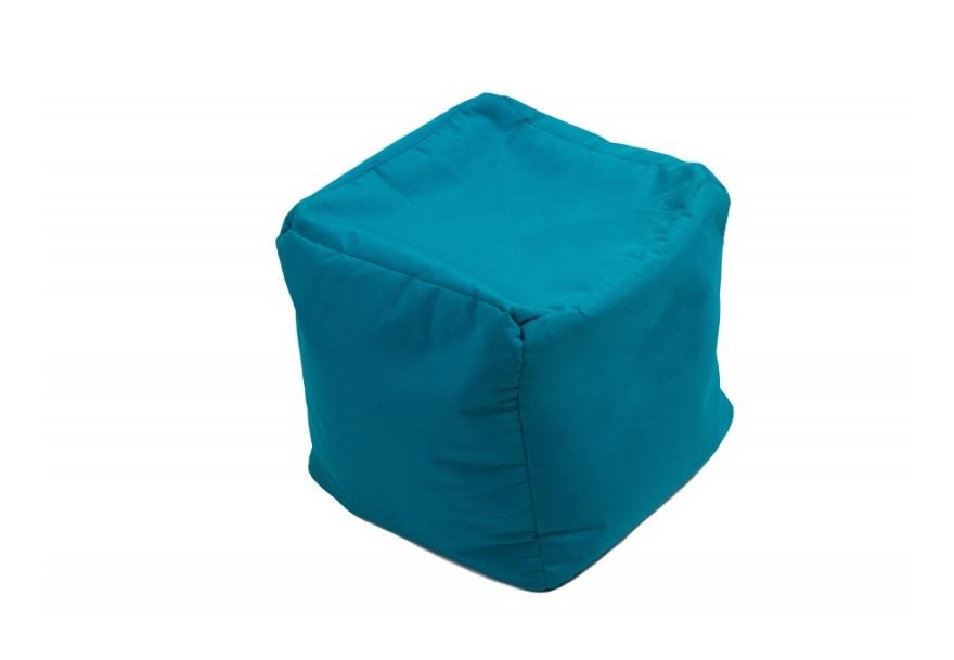 Pouf Cube repose-pieds Bleu pétrole - Jumbo Bag