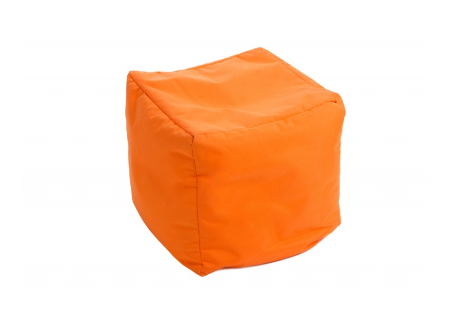 Pouf Cube repose-pieds Orange - Jumbo Bag