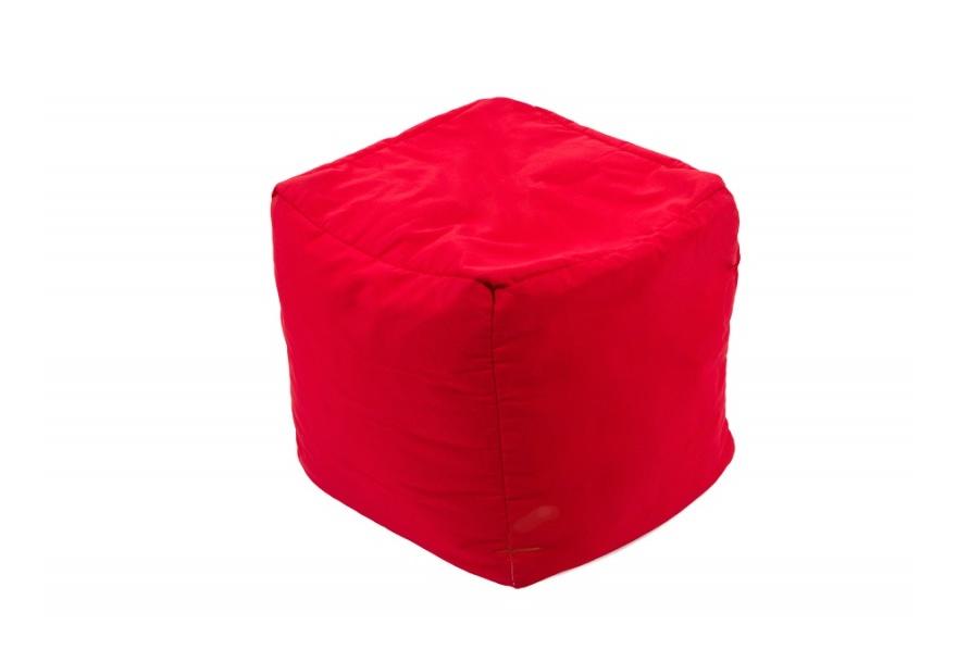 Pouf Cube repose-pieds Rouge - Jumbo Bag