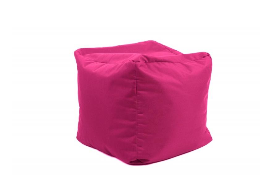Pouf Cube repose-pieds Rose - Jumbo Bag