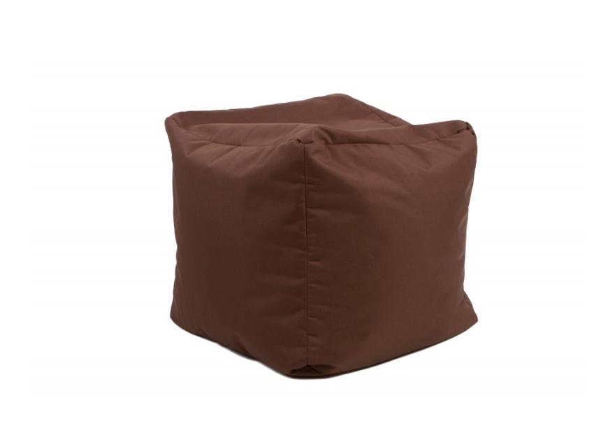 Pouf Cube repose-pieds Chocolat - Jumbo Bag