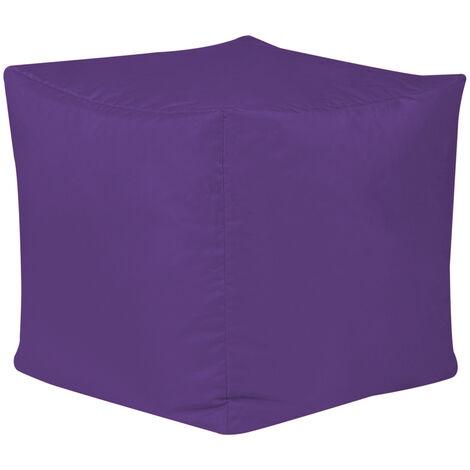 Cube Bean Bag Stool - 38cm x 38cm - Indoor Outdoor, Water Resistant