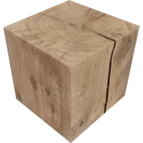 Cube chêne massif 19