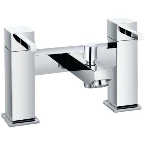 Cube Chrome Bath Shower Mixer & Shower Kit