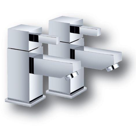 Cube Chrome Bath Taps