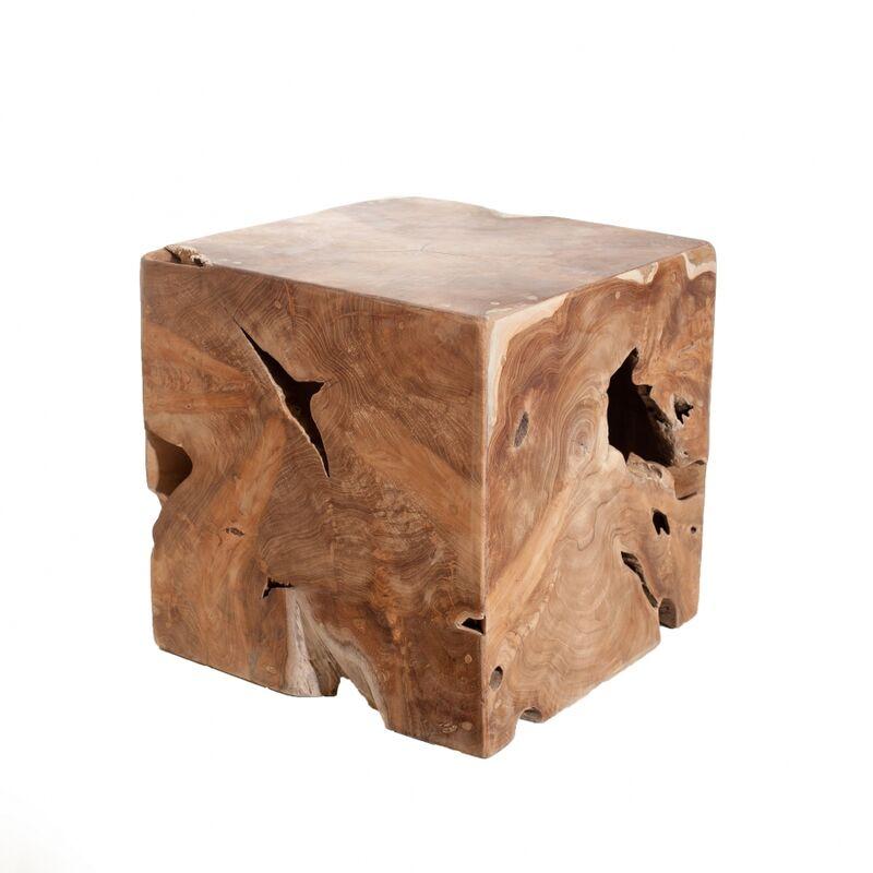 Cube bois nature
