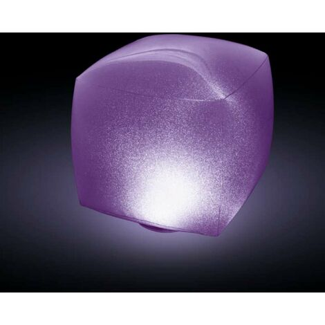 Cube gonflable étanche à led multicolore Intex 23x23x22cm