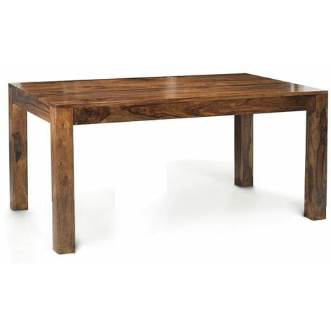 Cube Indian Wood Dining Table 4 ft (120Cm) - Rich Honey