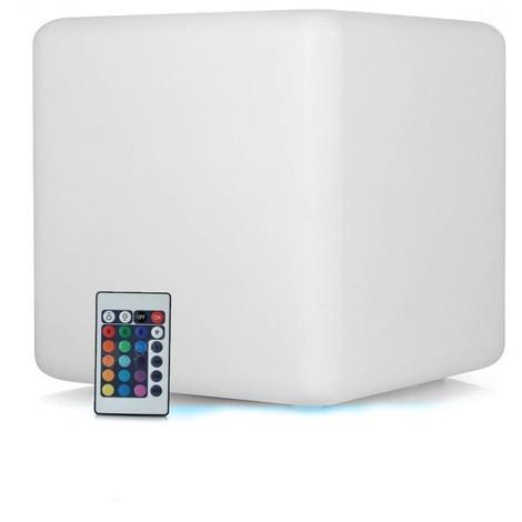 Cube LED Lumineux Multicolore Rechargeable Sans Fil