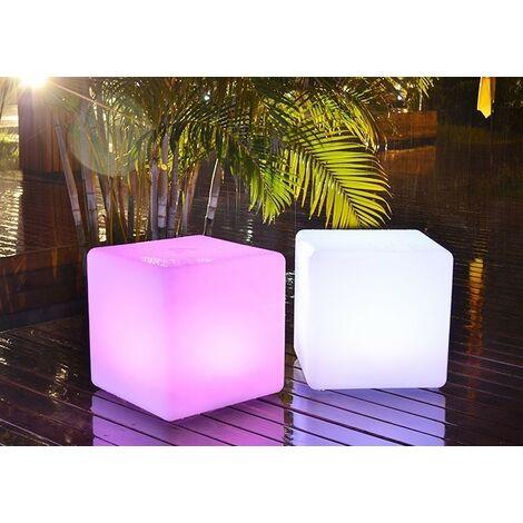 "main image of ""Cube lumineux LED RGBW sans fil 35cm IP65"""