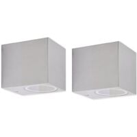 Cube Outdoor Wall Lights 2 pcs