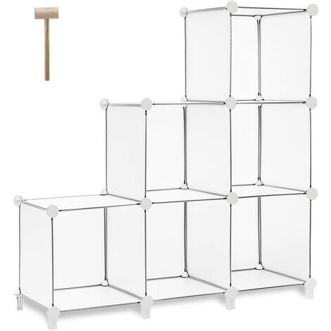 "main image of ""Cube Storage 6-Cube Closet Organizer Storage Shelves Cubes Organizer DIY Bookshelf Bookcase Plastic Cube Shelf Clothes Storage Organizer Shelves for Bedroom Living Room Office, Pink"""