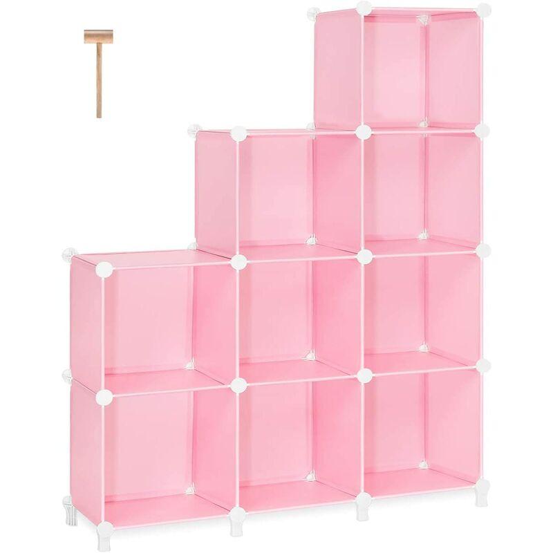 Cube Storage 9-Cube Closet Organizer Storage Shelves Cubes Organizer DIY Bookshelf Bookcase Plastic Cube Shelf Clothes Storage Organizer Shelves for