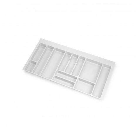 Cubertero Optima para cajón de cocina Vertex/Concept 500, módulo 1.000 mm, Tablero: 16mm, Plástico, blanco