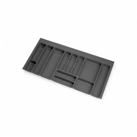 Cubertero Optima para cajón de cocina Vertex/Concept 500, módulo 1.000 mm, Tablero: 16mm, Plástico, gris antracita