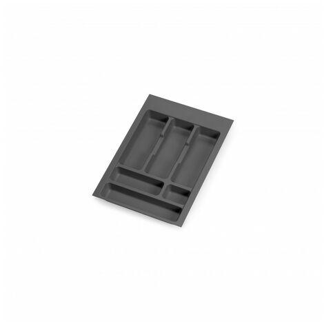 Cubertero Optima para cajón de cocina Vertex/Concept 500, módulo 400 mm, Tablero: 16mm, Plástico, gris antracita