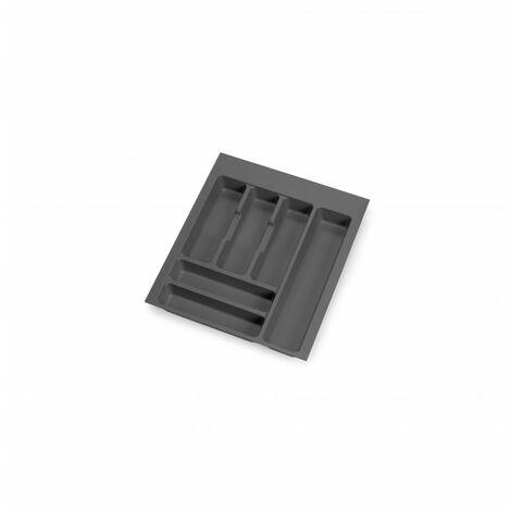 Cubertero Optima para cajón de cocina Vertex/Concept 500, módulo 450 mm, Tablero: 16mm, Plástico, gris antracita