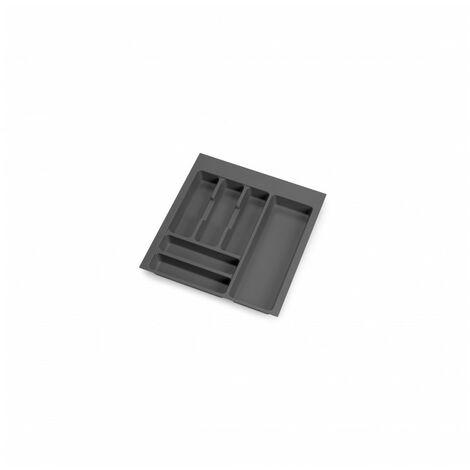 Cubertero Optima para cajón de cocina Vertex/Concept 500, módulo 500 mm, Tablero: 16mm, Plástico, gris antracita