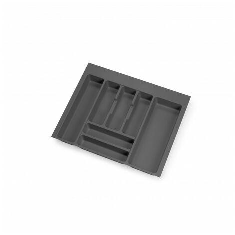 Cubertero Optima para cajón de cocina Vertex/Concept 500, módulo 600 mm, Tablero: 16mm, Plástico, gris antracita