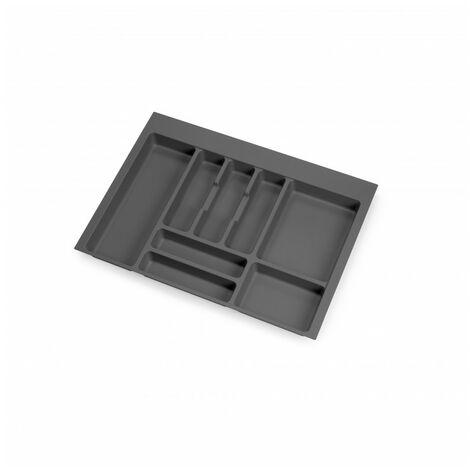 Cubertero Optima para cajón de cocina Vertex/Concept 500, módulo 700 mm, Tablero: 16mm, Plástico, gris antracita