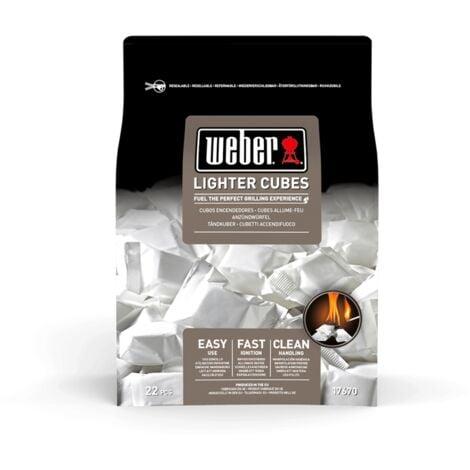 Cubes allume-feux blancs Weber - Boîte de 22 cubes