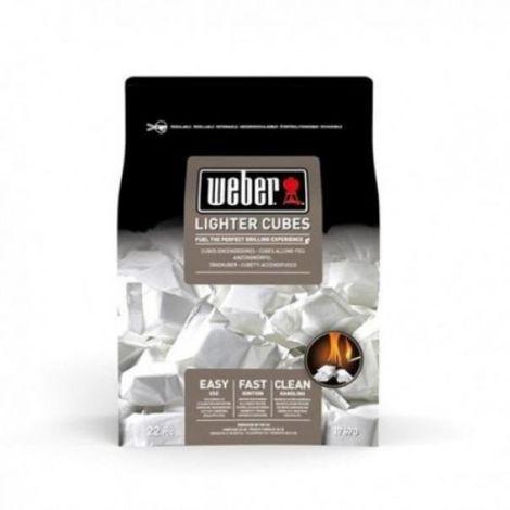 Cubes de briquet weber emballés individuellement 17670