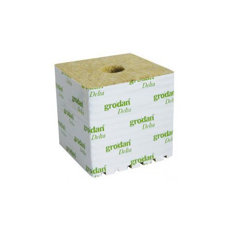 Cubes de laine de roche 15x15x13 à l'unité - Grodan