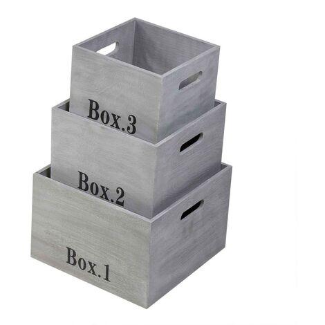 Cubes empilables en bois vendus par 3 - Casâme