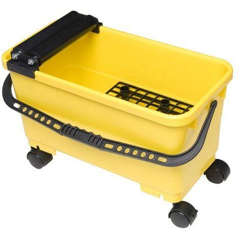 Cubeta alicatador maurer 24 litros con ruedas