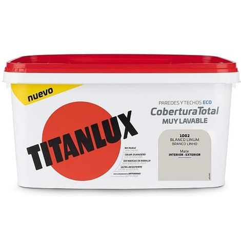 Cubeta pintura cobertura total Titanlux 4 Litros Blanco opalo